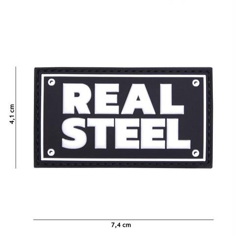 Patch 3D PVC Real steel black