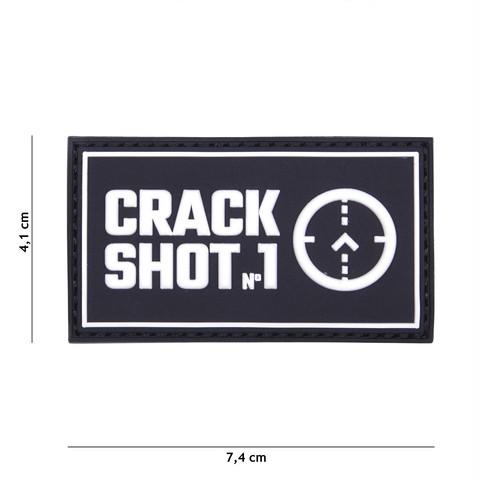 PATCH 3D PVC CRACK SHOT BLACK