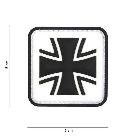 Patch 3D PVC German cross white
