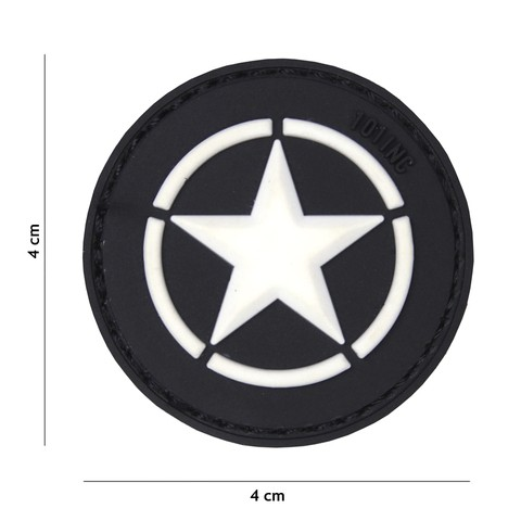 Patch 3D PVC Allied star black