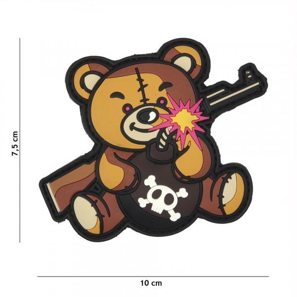 Patch 3D PVC Terror Teddy brown