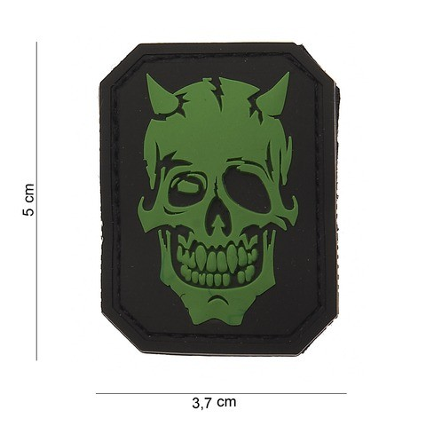 Patch 3D PVC Devil Skull