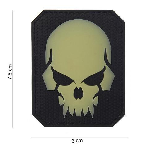Patch 3D PVC Pirate skull