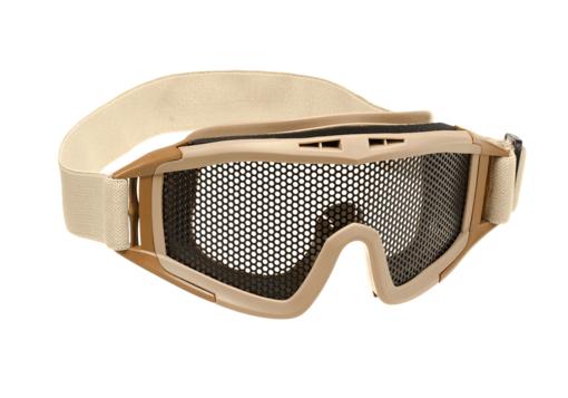 DLG Goggles Steel Mesh Tan