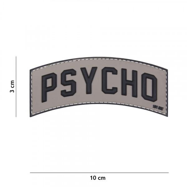 Patch 3D PVC Psycho grey