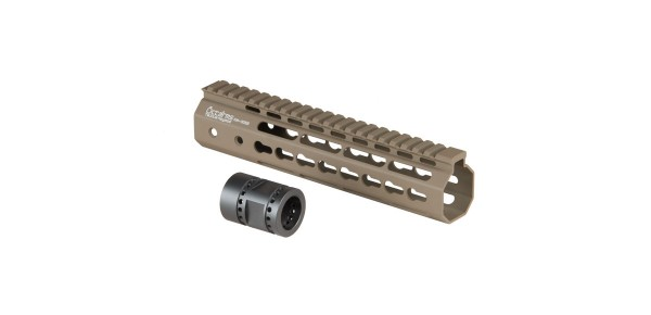 Ares 201mm M-LOK Handguard Set Dark Earth