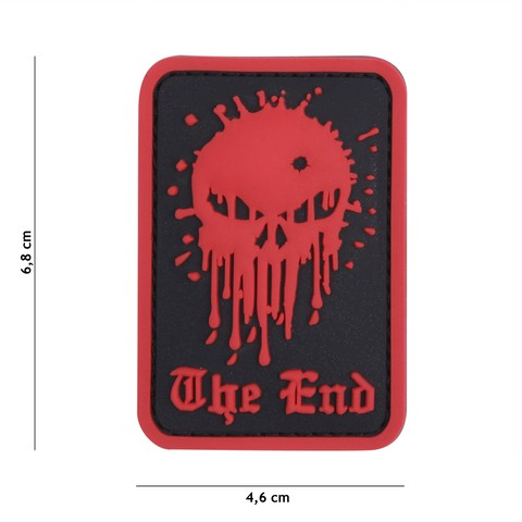 Patch 3D PVC Skull The End red