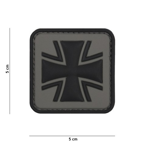 Patch 3D PVC German cross grey
