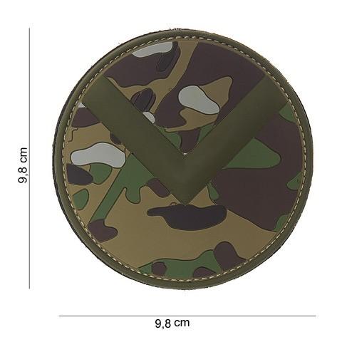 Patch 3D PVC Spartaan shield multi