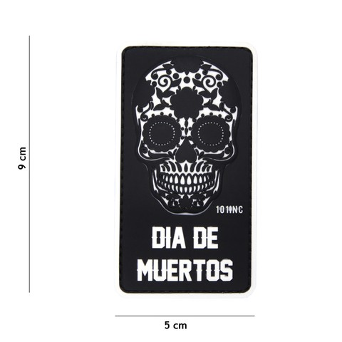 PATCH 3D PVC DIA DE MUERTOS BLACK