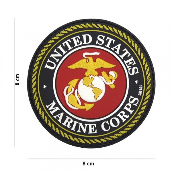 Patch 3D PVC United States Marine Corps red
