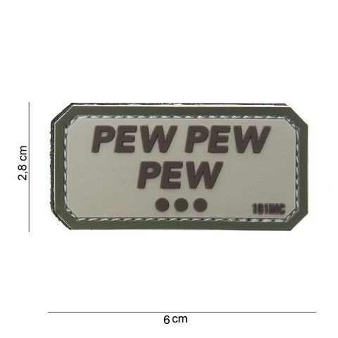 Patch 3D PVC Pew pew pew