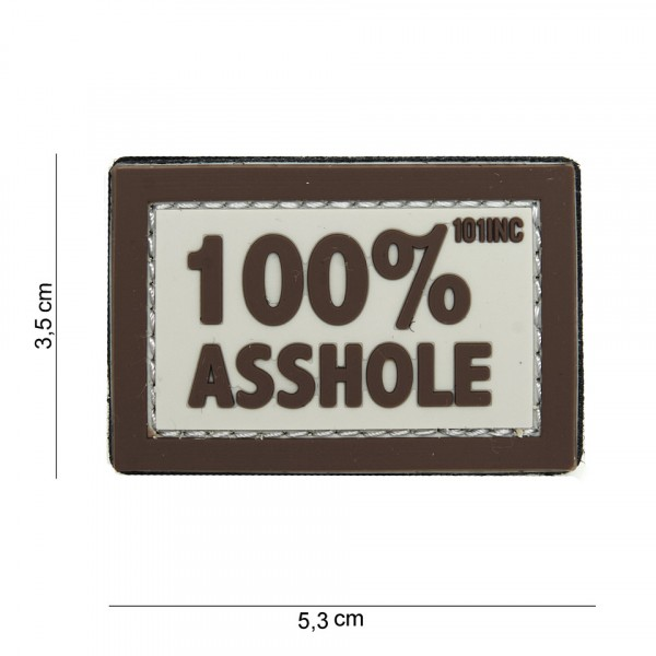 Patch 3D PVC 100% asshole sand/brown