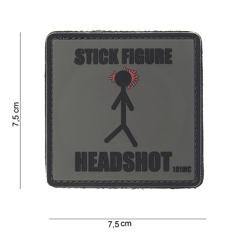 Patch 3D PVC Stick figure
