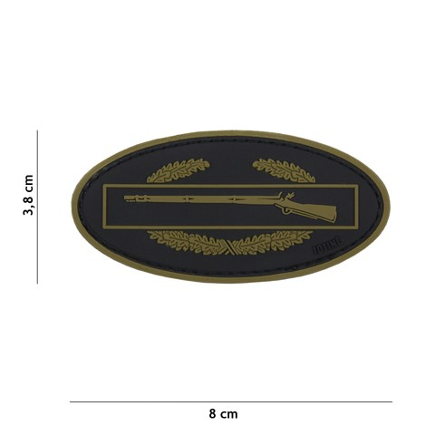 PATCH 3D PVC INFANTRY GREEN/BLACK