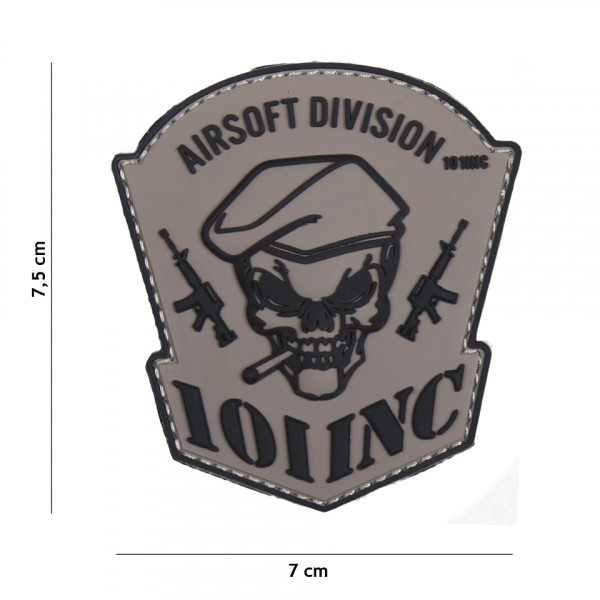 Patch 3D PVC Airsoft Division 101 INC grey