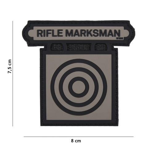 Patch 3D PVC Rifle Marksman grey